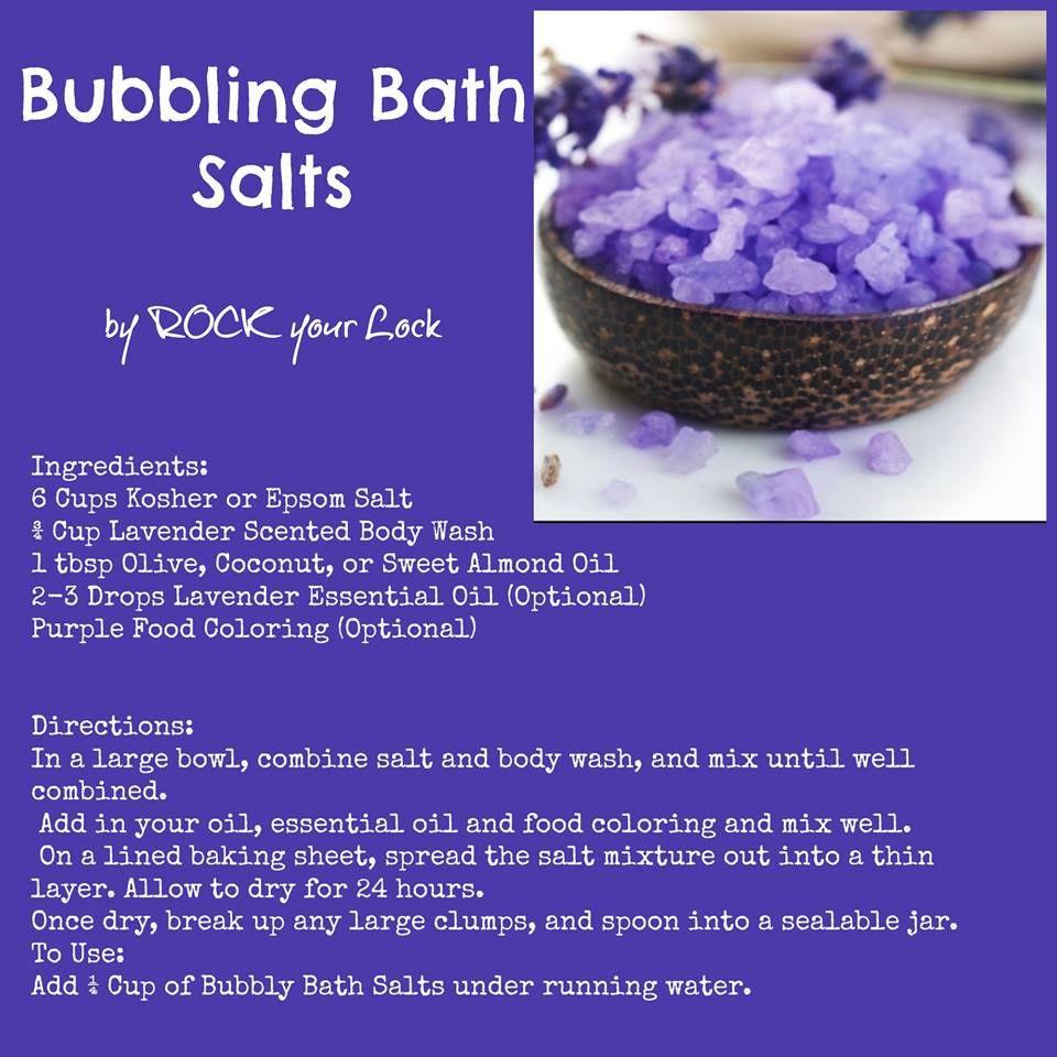 Bubble Bath Foaming Salt Recipe Bath Salts Recipe Bath
