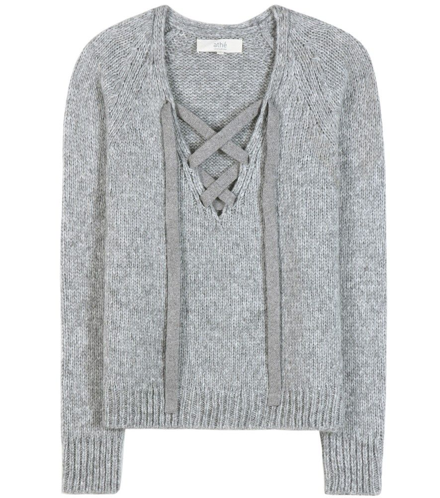 Vanessa Bruno Athé - Knitted sweater - We love the lace-up detailing to Vanessa…