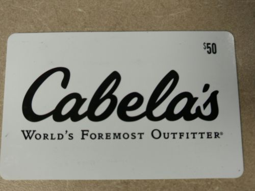 $50 cabela's gift card - postal mail only | coupons &gift cards ...