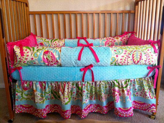 Kumari Garden-Baby Girl Crib Bedding for Nursery on Etsy, $314.00