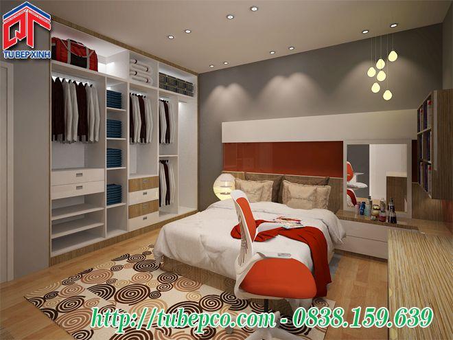 Nội thất phòng ngủ đẹp mang phong cách trẻ trung, hiện đại PN02