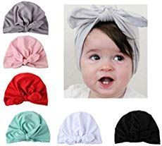 Baby Bow Turban Beanie Pattern #diybabyheadbands