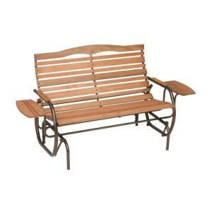 Jack Post Country Garden Natural Double Patio Glider With Trays CG 12Z At  The Home