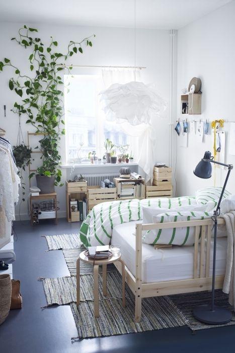 Tarva Bed Frame Pine Luroy Queen Ikea Bedroom Design Small