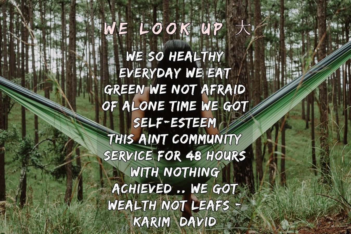 Health is wealth 𝐖𝐞 𝐋𝐨𝐨𝐤 𝐔𝐩 大 health looking up wealth