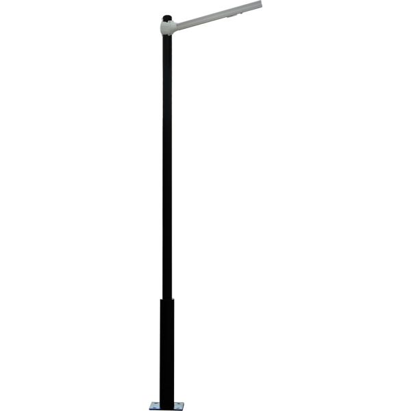 Solar street light with pole. Options for 10' or 15' pole. Fixture ...