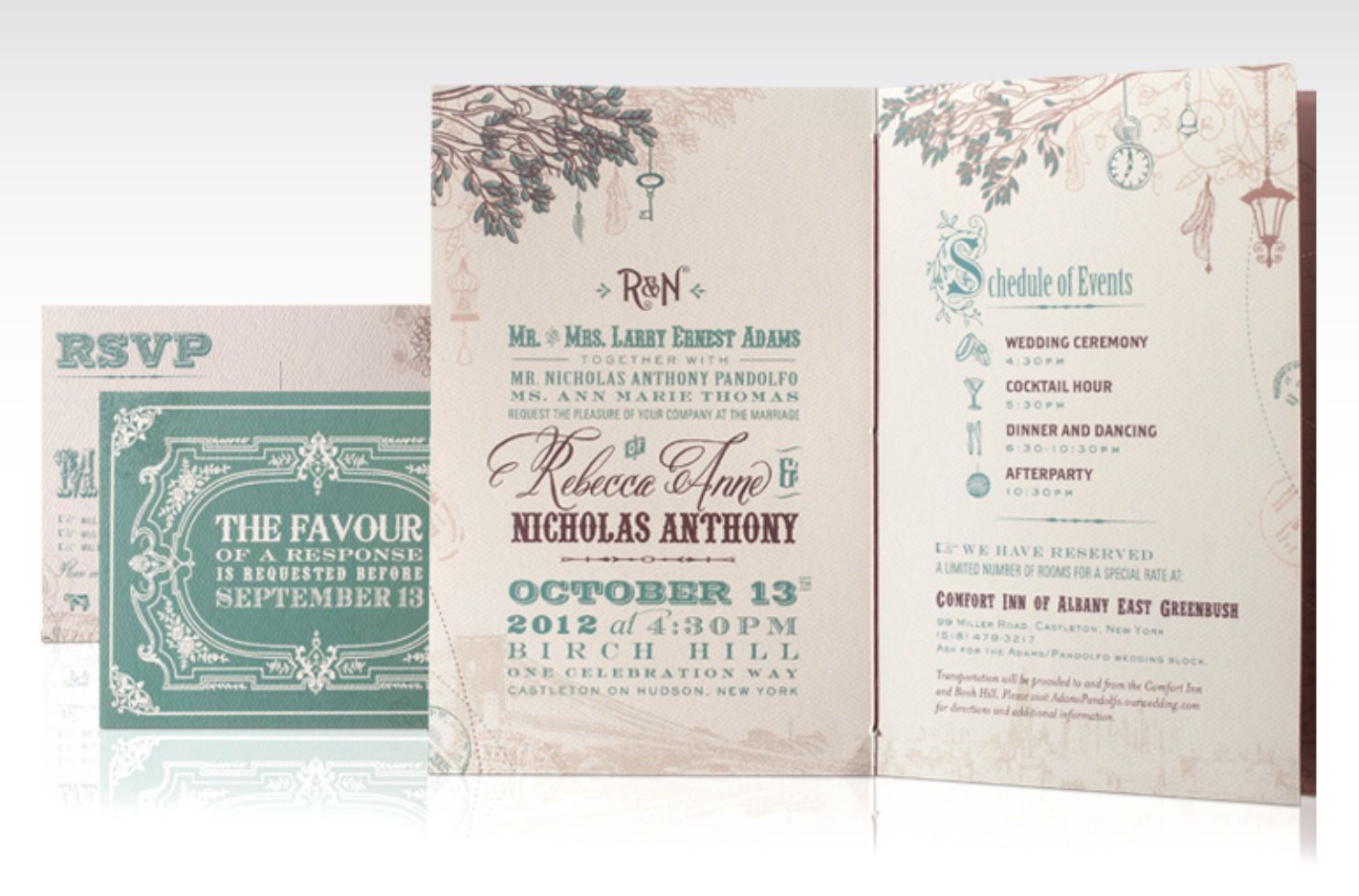 Custom storybook inspired wedding invitation for an offbeat ...