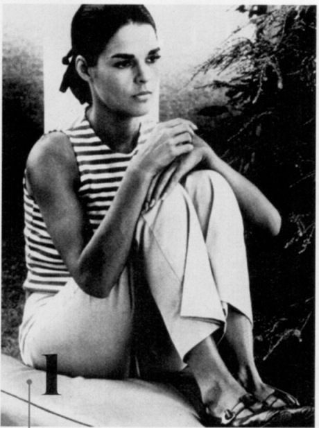 Ali MacGraw #stripes #ponytail #icon