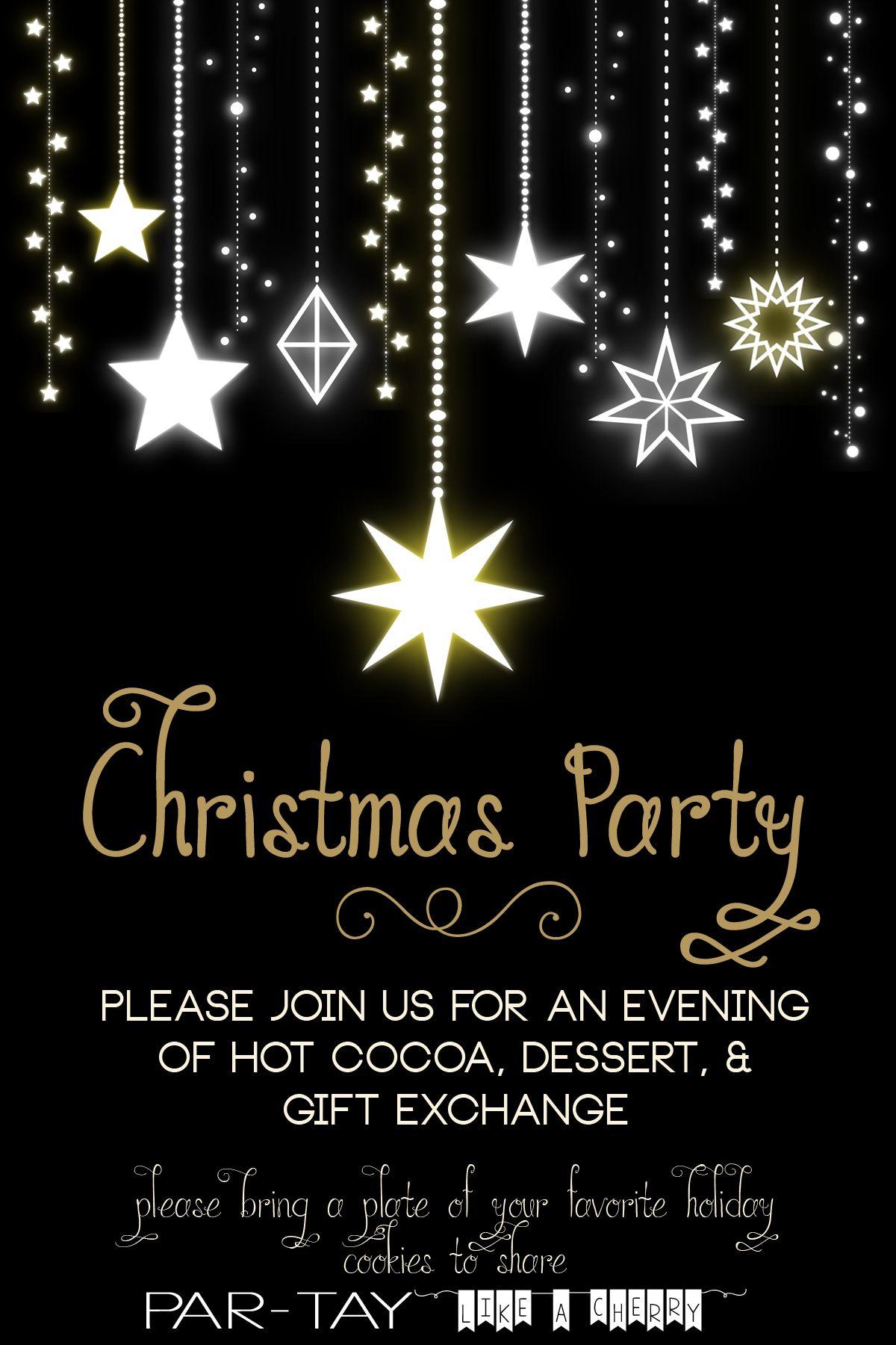 Free Christmas Party Invitation Invitaciones De Cena
