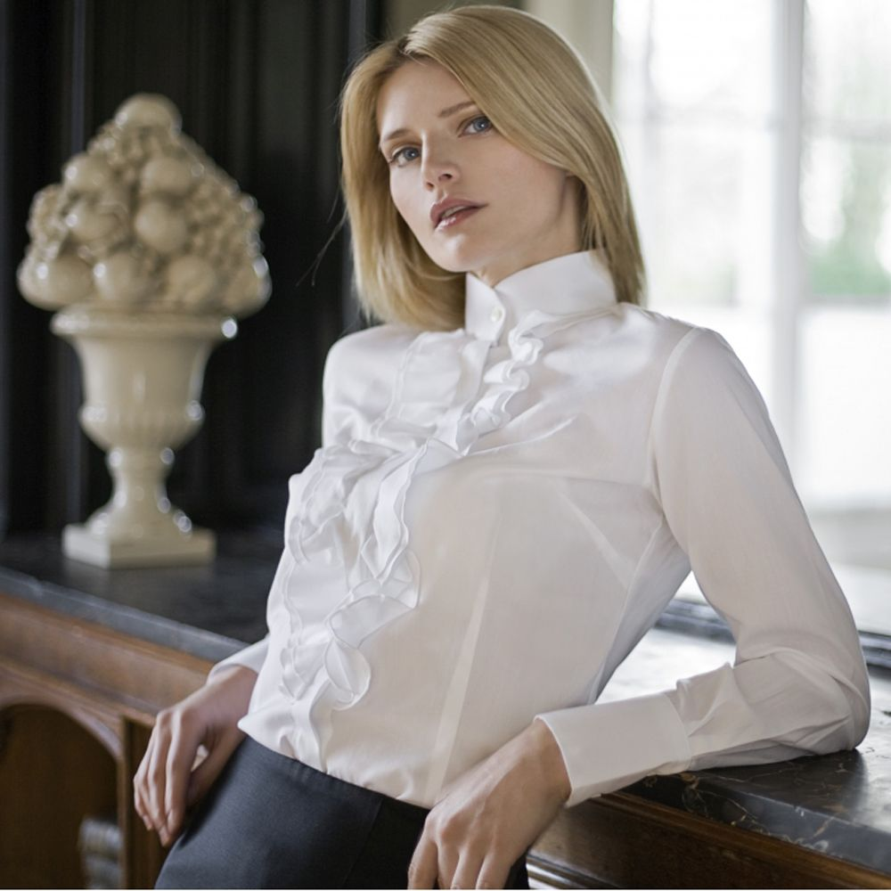 Beautiful Picture Of Women Wearing Sheer Blouse  Women39S Lace Blouses