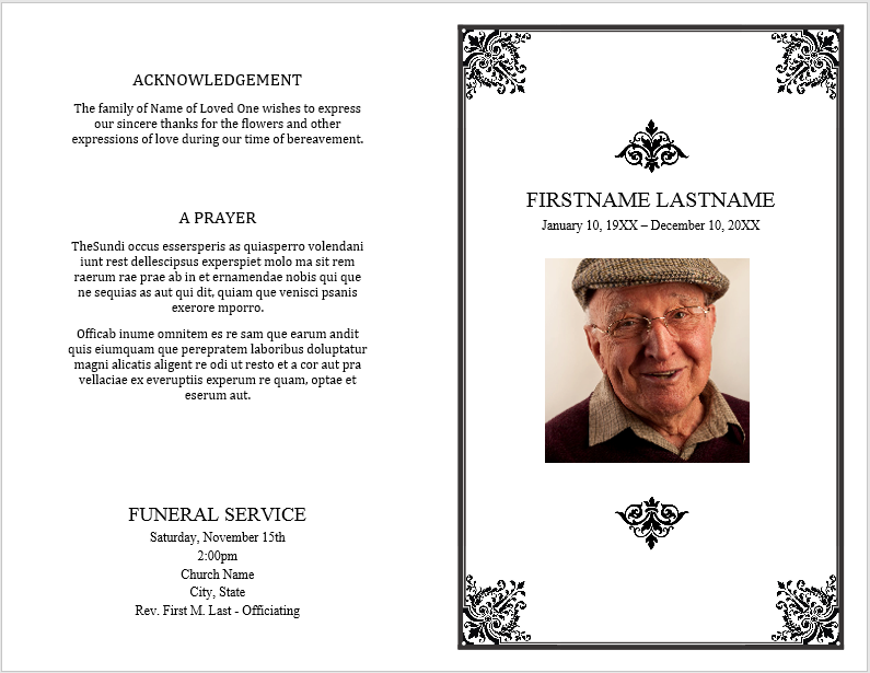 Free Funeral Brochure Template Pamphlet Long Tail Keywords