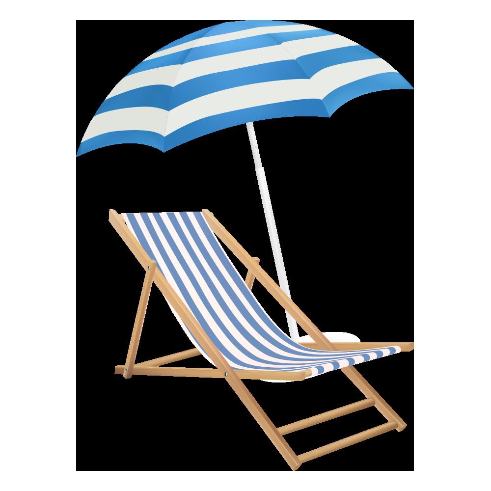 Cute Beach Chair With Umbrella Concept