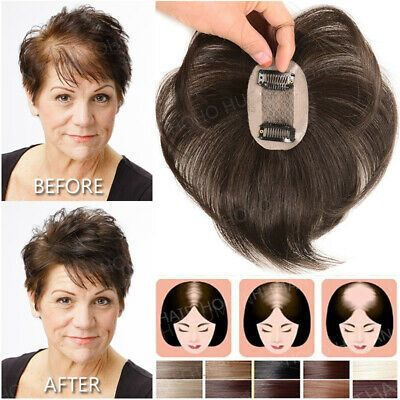 Details about Free Part Toupee Clip In 130% Thick