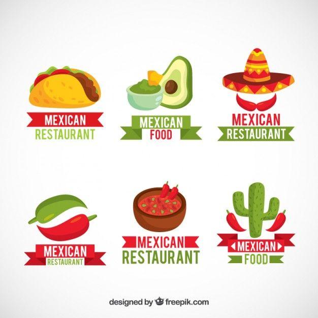 Pack De Logotipos Con Comida Mexicana Logos De Comida Logos