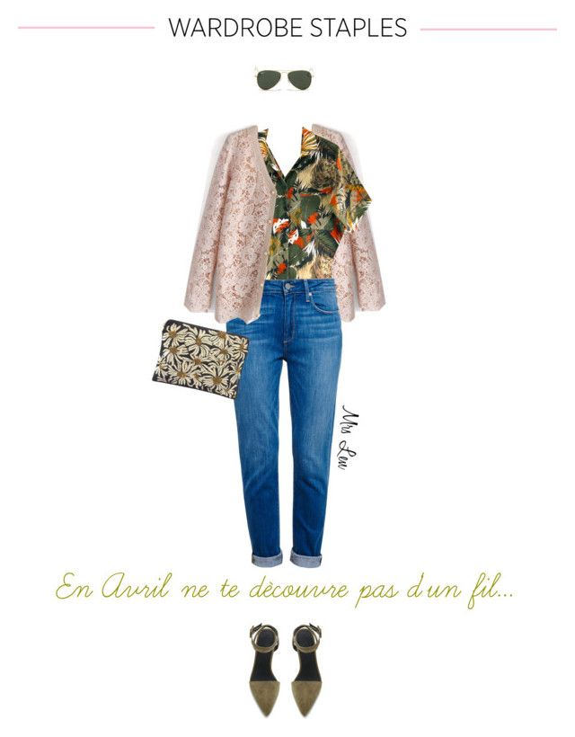"""""""Wardrobe Staple : The Spring Cardigan"""" by mrs-len ❤ liked on Polyvore featuring Chicwish, Paige Denim, Alexander Wang, Forest of Chintz and Ray-Ban"""