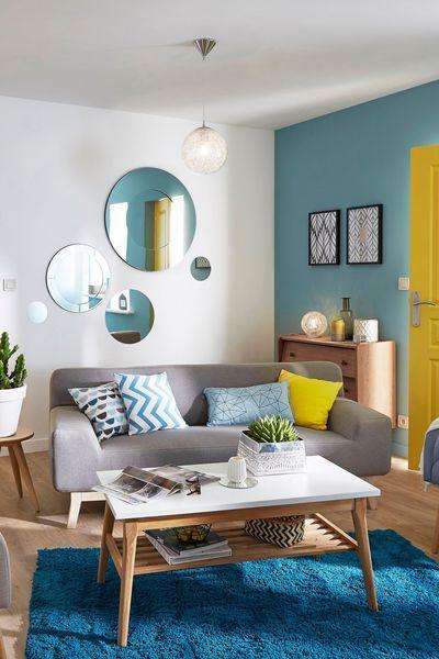 Peinture Teintes Et Leroy Merlin 15 95 Euros Le Pot De 0 5 L Deco Salon Idee Deco Salon Et Decoration Salon