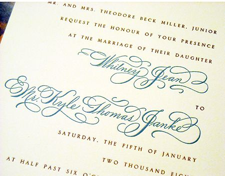 Wedding invitation with names designed in hand calligraphy wedding invitation with names designed in hand calligraphy flourished spencerian script style stopboris Gallery