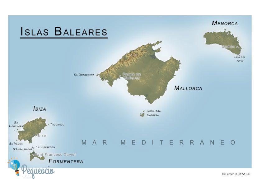 Mapa Mudo De Canarias.Mapa De Comunidades Autonomas Para Imprimir Islas Baleares