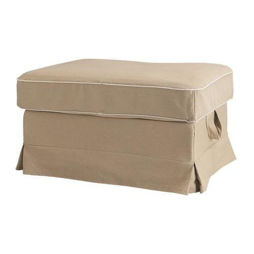 Ikea Ektorp Bromma Footstool Cover Ottoman Slipcover Idemo Beige