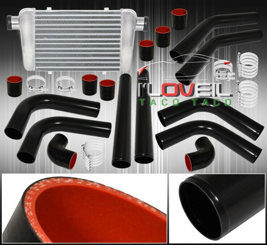 (Ad eBay) Turbo Intercooler + Black Aluminum Piping Kit
