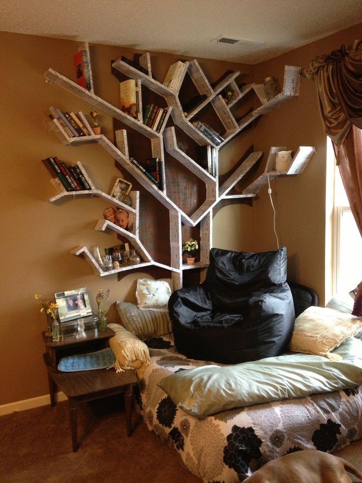 43 Very Inspiring And Creative Bookshelf Decorating Ideas | Tree Branch  Decor, Branch Decor And Living Room Bookshelves