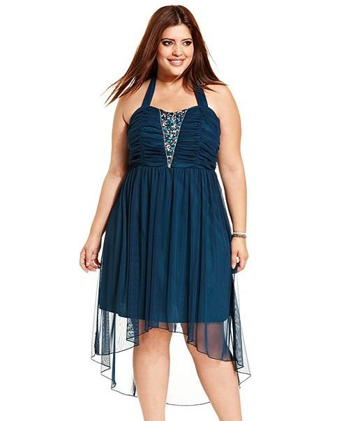 Ruby Rox Plus Size Halter Rhinestone A-Line Dress | Outfit ...