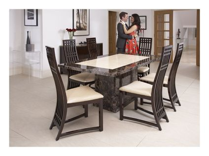 Caesar Fixed Dining Table And 6 Chairs