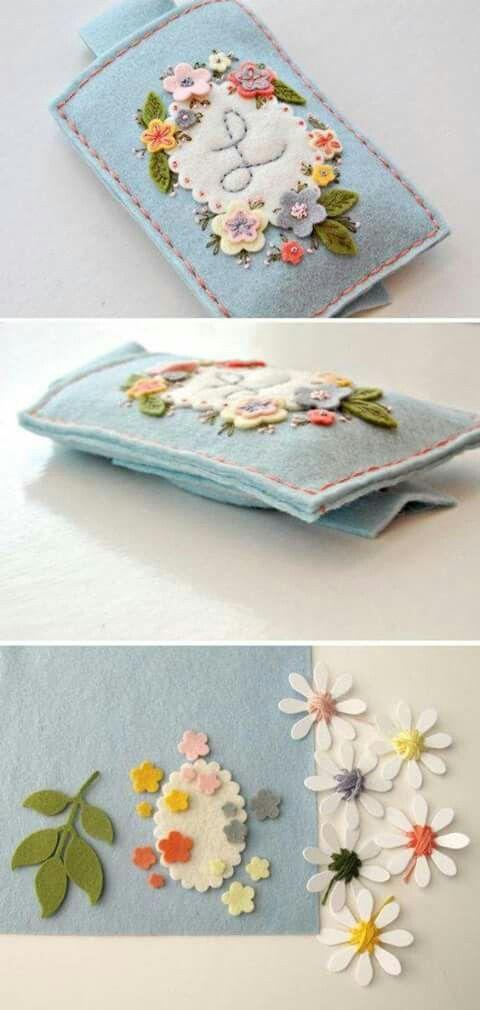 Pin de Anne Shortreed en Felt | Pinterest | Fieltro, Paños y Bordado