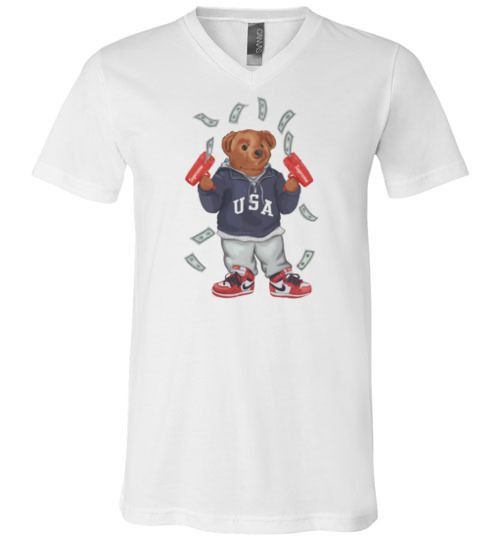 caad384f Cash Out Bear Unisex V-neck T-shirt in 2019 | TEEFLAT | Gucci hoodie ...