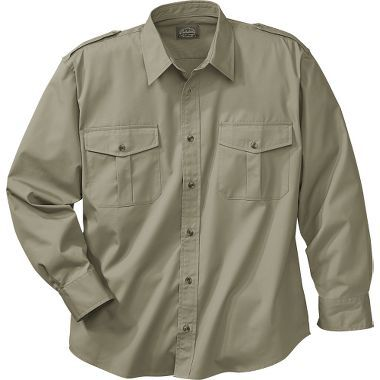 Cabela S Long Sleeve 65 35 Polyester Cotton Safari Shirt Regular At Cabela S Mens Casual Outfits Casual Shirts For Men Mens Outfits