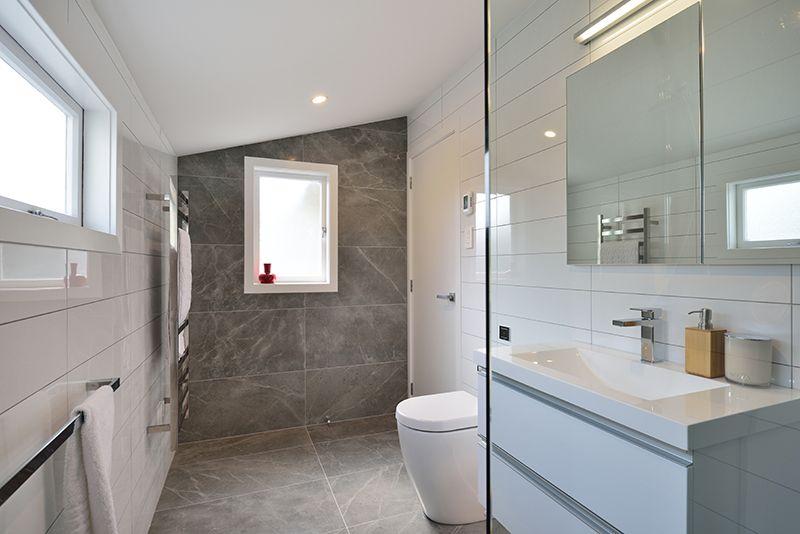Bathroom: Grey Fluery 450 x 900 Designer: John Kaminski - Bathroom ...