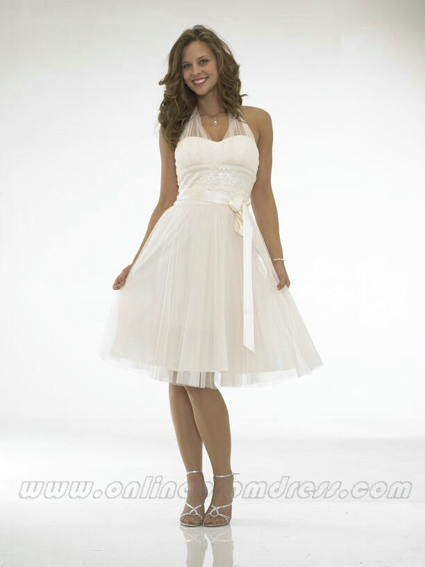 Halter Knee Length Tail Dress