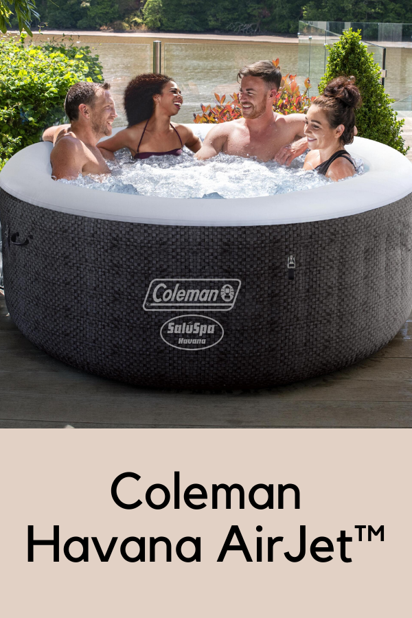 Coleman Saluspa 71 X 26 Havana Airjet Inflatable Hot Tub With