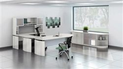 This large executive furniture set from the Mayline Medina collection offers excellent modern appeal and plenty of storage! The full package is available for just $2228.99 + Free Shipping at OfficeAnything.com