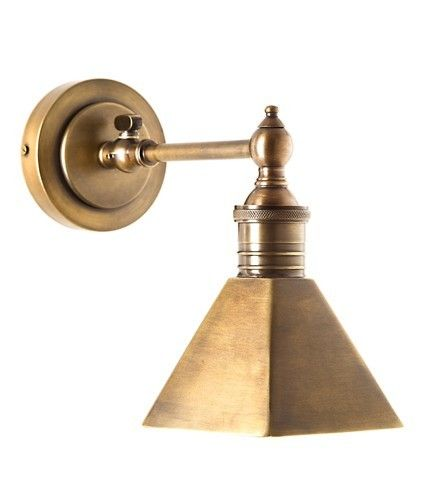 Mayfair Antique Brass Wall Lamp Wall Lights Bathroom