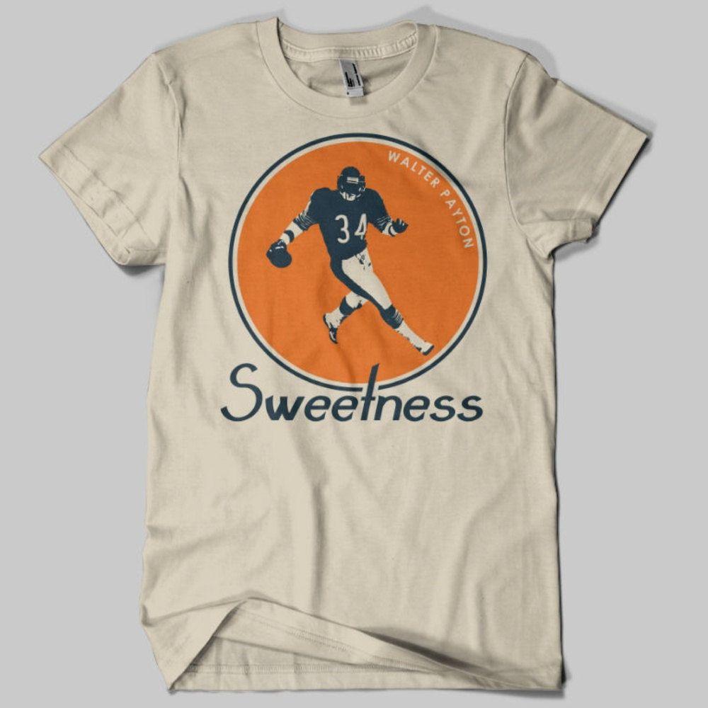 buy popular 15ea9 1c0b4 Walter Payton Vintage Chicago Bears T-Shirt Sand | t-shirts ...