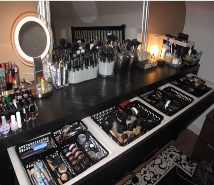 Makeup Vanity Organization / Storage looks like heaven to me!