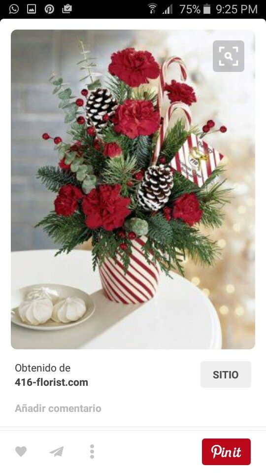 Pin By Jean Terry On Decora Clice Christmas Flower Arrangements Christmas Floral Arrangements Holiday Flower