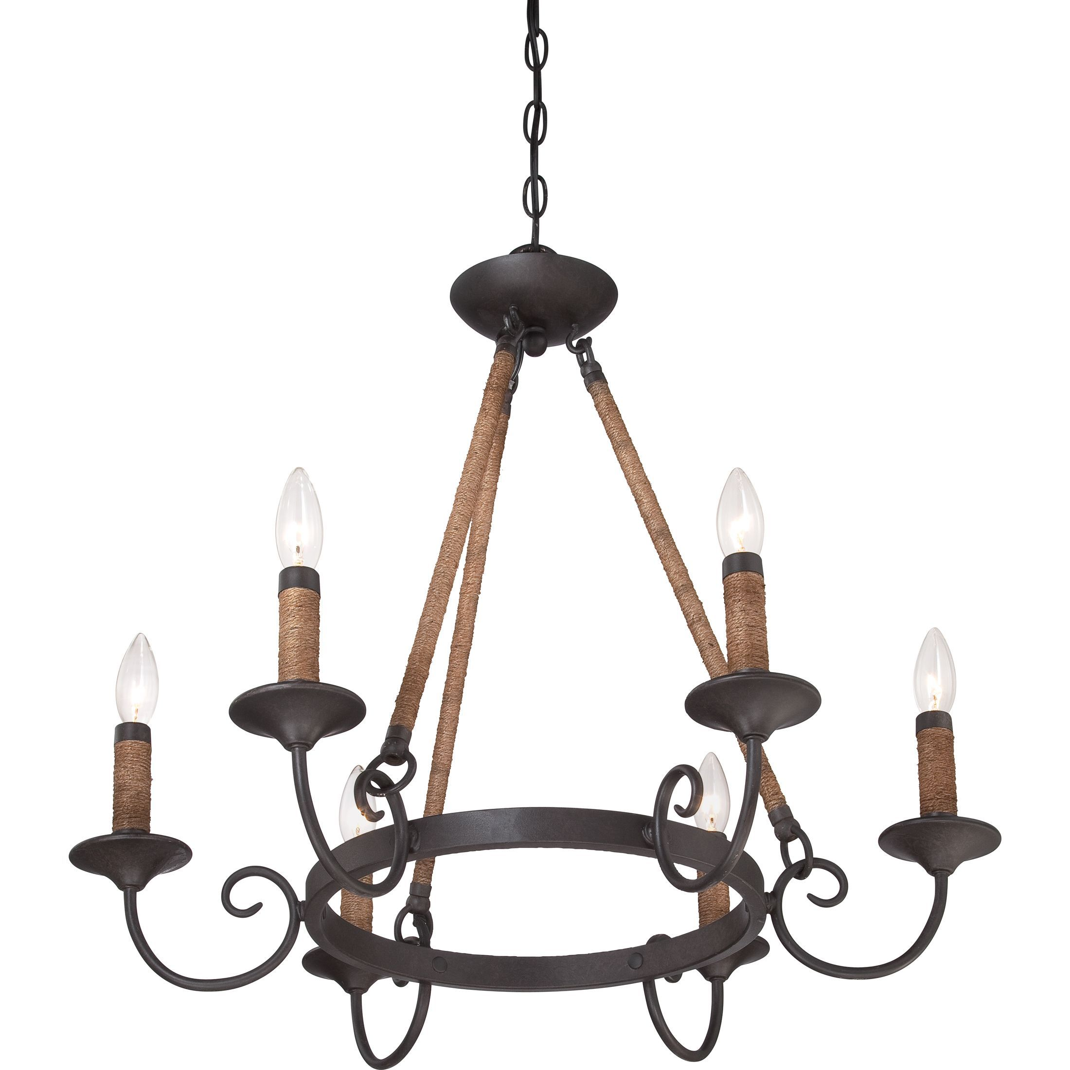 Quoizel Bandelier 6 light Imperial Bronze Chandelier Imperial