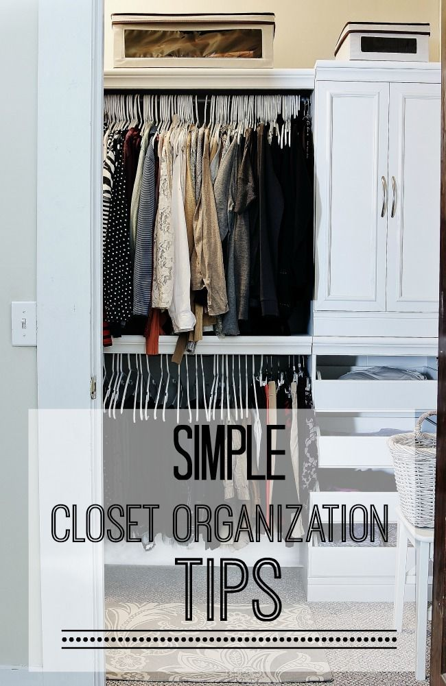 Thistlewood Farms Easy Closet Organization Tips  Http://www.thistlewoodfarms.com/easy Closet Organization Tips Via BHome  Https://bhome.us Organizing Ideas ...