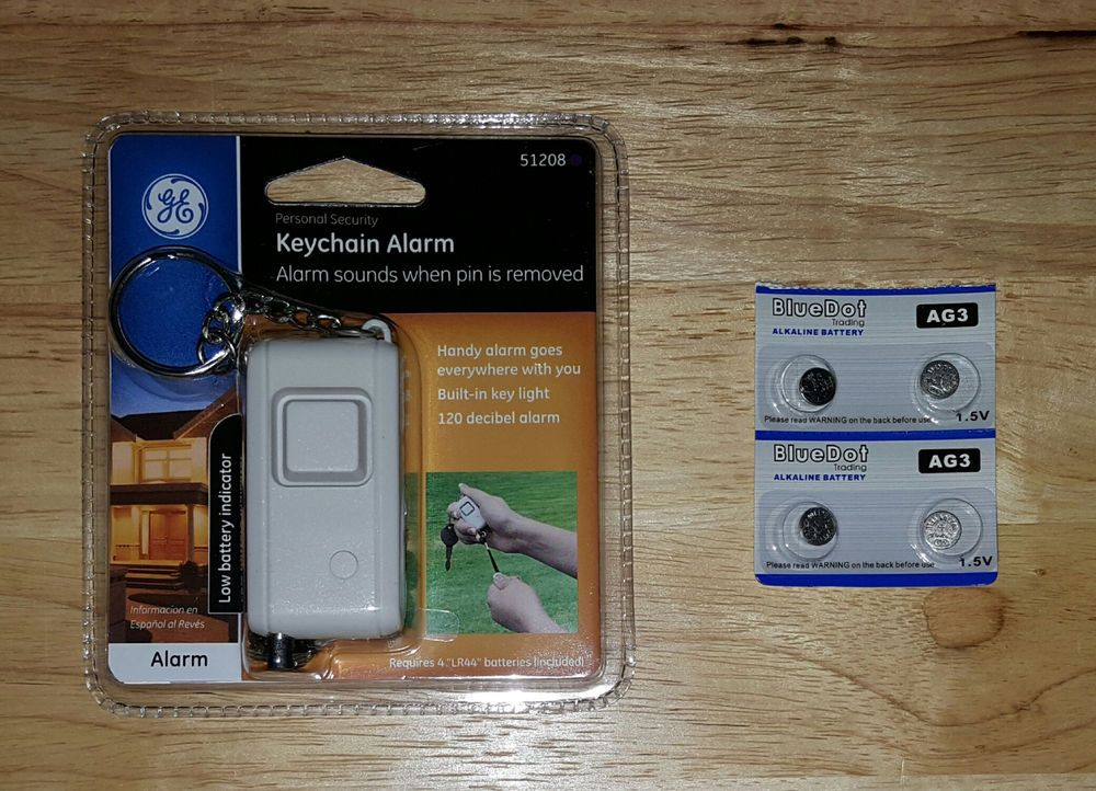 Ge keychain alarm loud emergency panic button personal