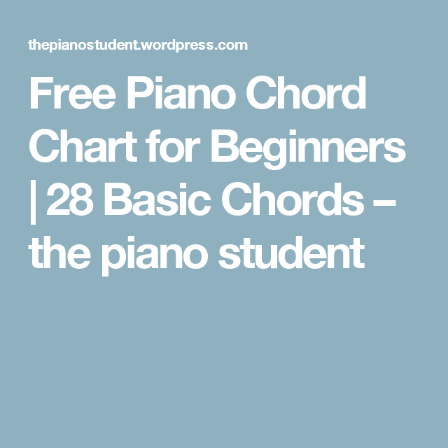 Piano Chord Chart For Beginners Free Piano And Pianos