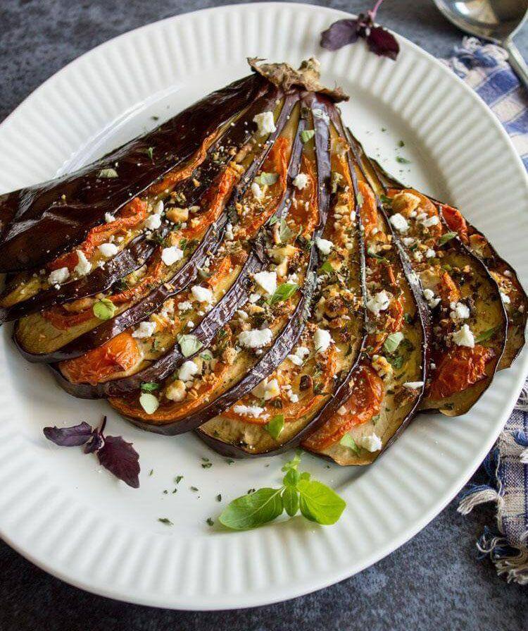 Вегетарианские блюда с баклажанами