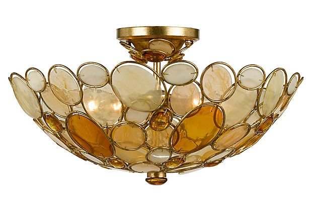 Wouldn T This Be Lovely In The Bedroom Giving Soft Lighting Ceiling Lights Crystorama Flush Ceiling Lights