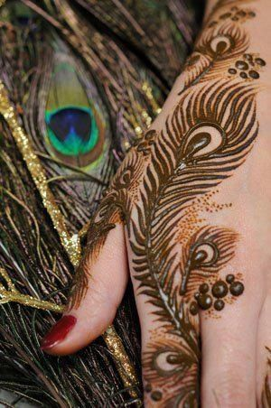 Top 10 Beautiful Peacock Feather Mehndi Designs