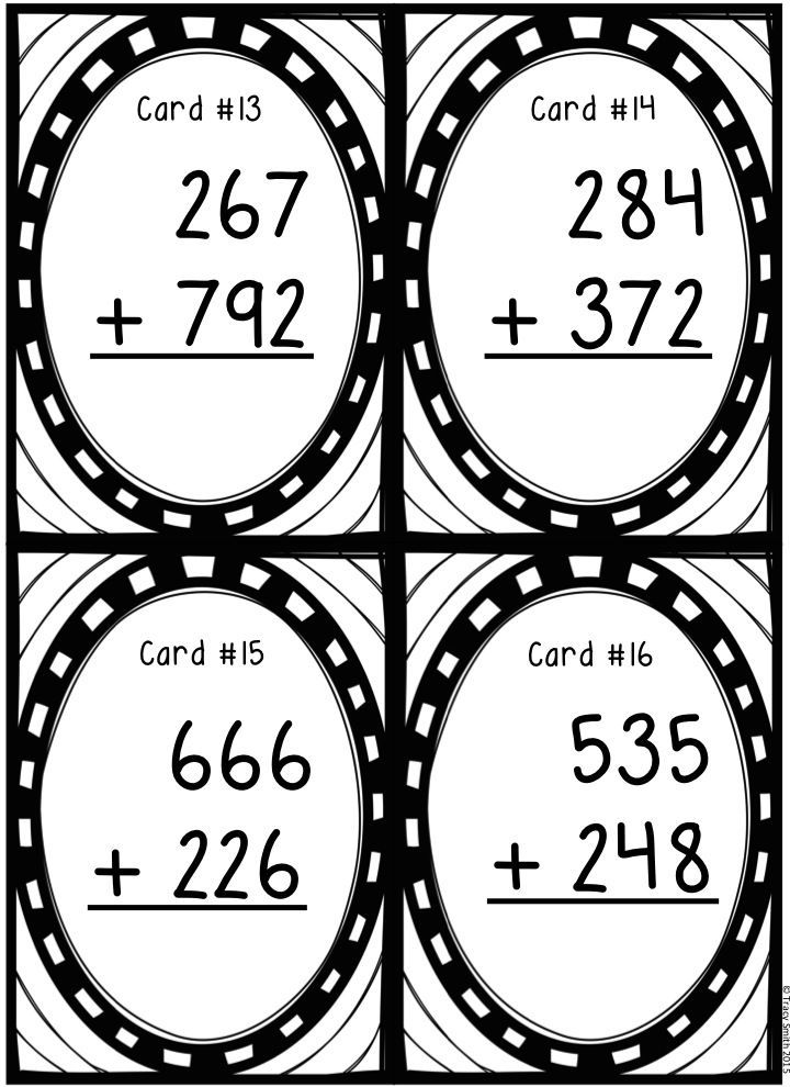 Three-Digit Addition with Regrouping Task Cards! SCOOT! Grades 2-4 ...