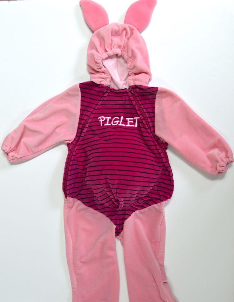 Piglet Jumpsuit Month Disney Costume Pig Ear Hoodie