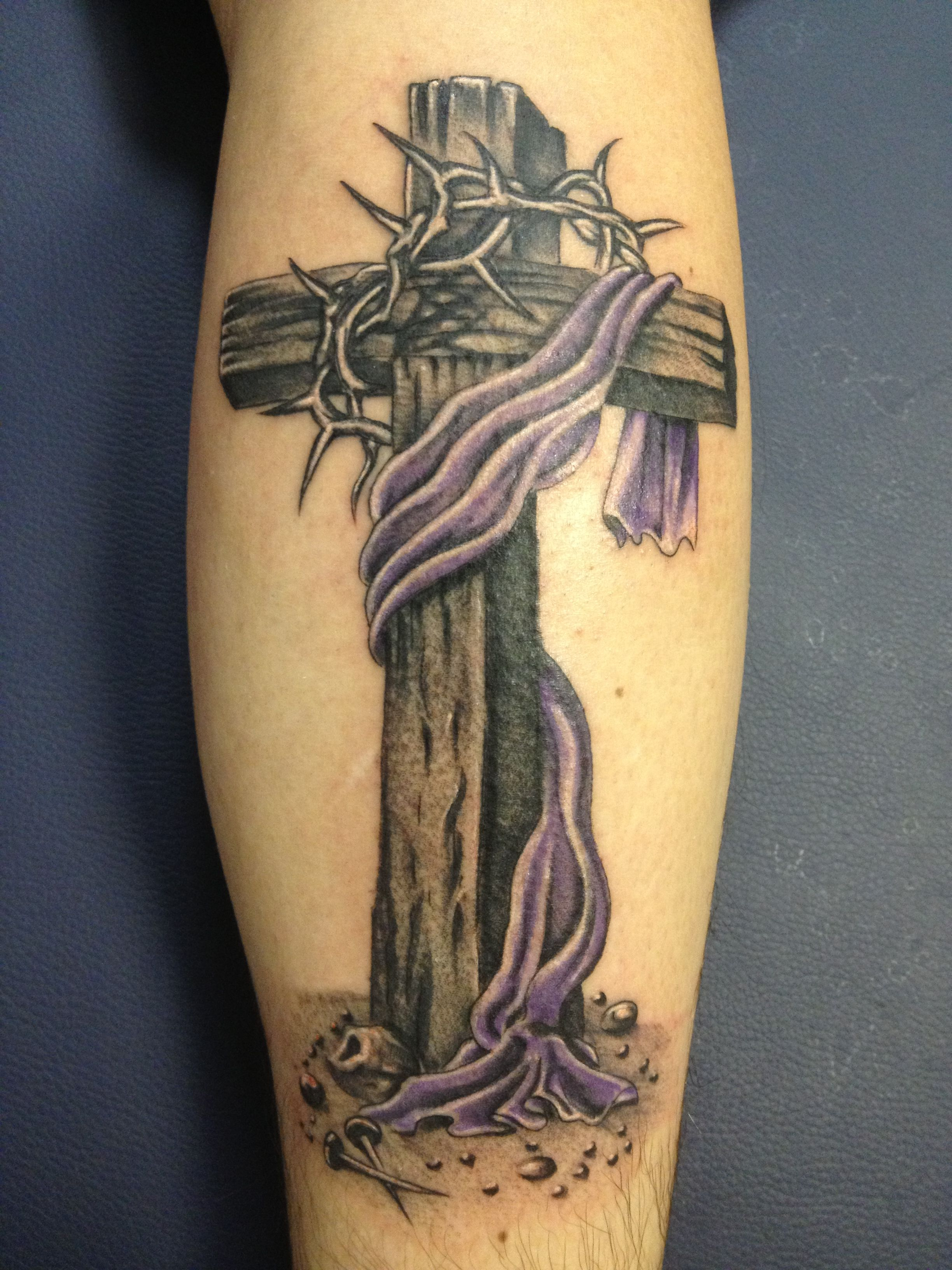 Cross With Thorns Tattoo Designs Wwwtopsimagescom