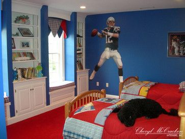 New England Patriots Themed Boys Room Traditional Kids Kids Bedroom Decor Patriotic Bedroom Boy S Room