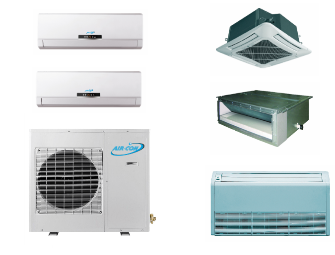 AirCon 2 Zone 18K Ductless in Mini